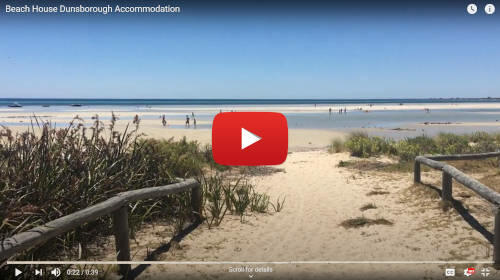 Short Youtube video showing close beachfront holiday rental accommodation Dunsborough